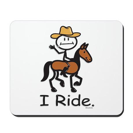 Western horse riding Mousepad