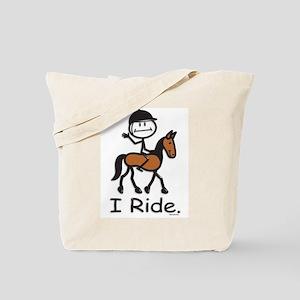 English Horse Riding Tote Bag