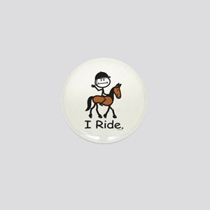 English Horse Riding Mini Button