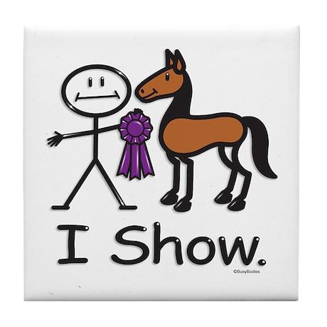 Horse Show Tile Coaster