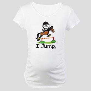 Horse Jumping Maternity T-Shirt