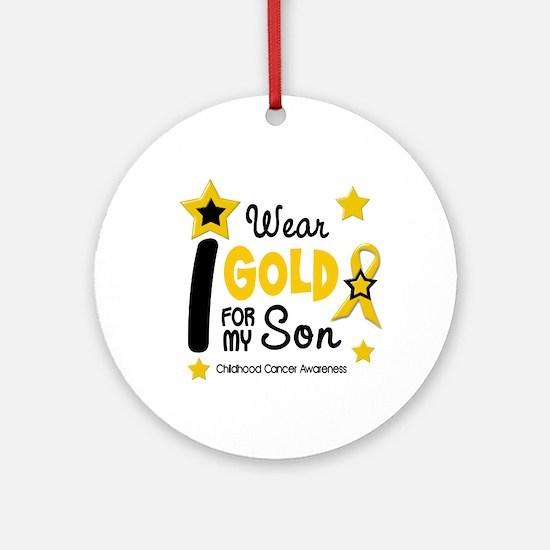 I Wear Gold 12 Son CHILD CANCER Ornament (Round)