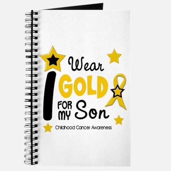 I Wear Gold 12 Son CHILD CANCER Journal