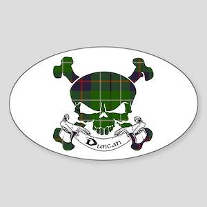 Duncan Tartan Skull Sticker (Oval)