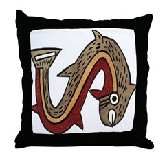 Pre-Columbian Art Throw Pillow