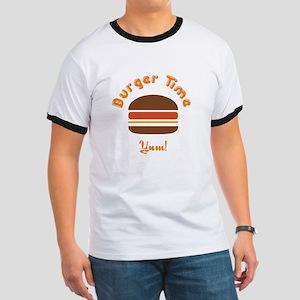 Retro Burger Time Ringer T