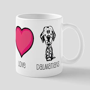 Peace Love & Dalmatians Mug