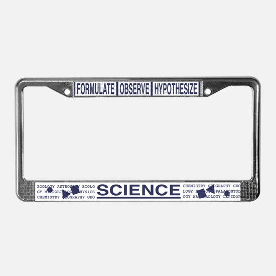 Science Hardcore License Plate Frame