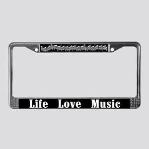 Life, Love, Music License Plate Frame