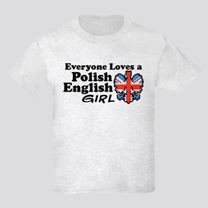 Polish English Girl Kids Light T-Shirt