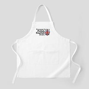 Polish English Girl BBQ Apron