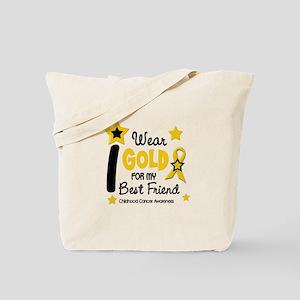 I Wear Gold 12 Best Friend CHILD CANCER Tote Bag