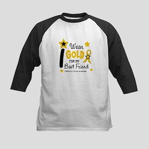 I Wear Gold 12 Best Friend CHILD CANCER Kids Baseb
