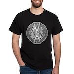 Celtic Dragons Silver Dark T-Shirt