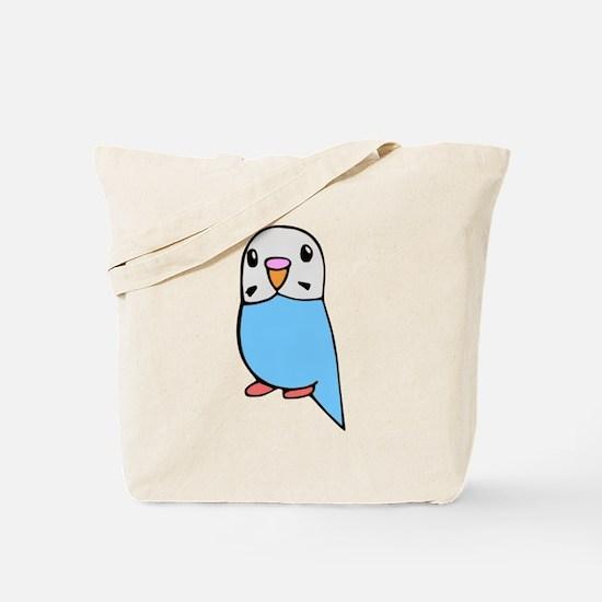 Cute Blue Budgie Tote Bag
