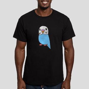Cute Blue Budgie Men's Fitted T-Shirt (dark)