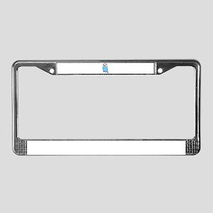 Cute Blue Budgie License Plate Frame