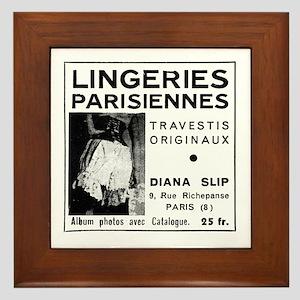 Lingeries Parisiennes Framed Tile