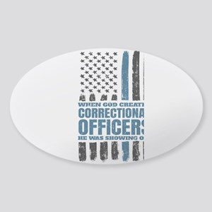 Christian Correctional Officers American F Sticker