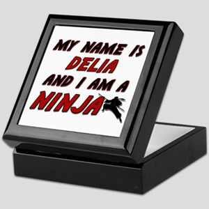 my name is delia and i am a ninja Keepsake Box