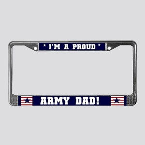 Proud Army Dad License Plate Frame