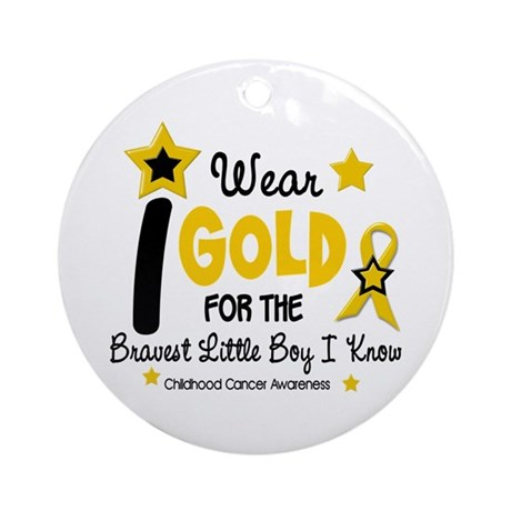 I Wear Gold 12 Brave Boy CHILD CANCER Ornament (Ro