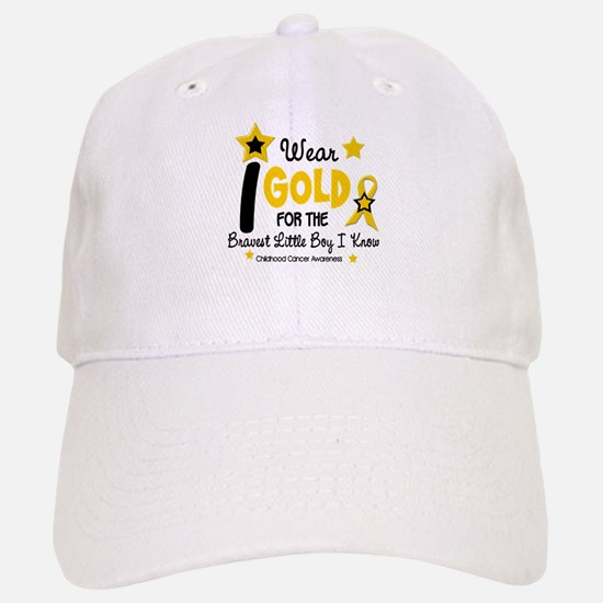 I Wear Gold 12 Brave Boy CHILD CANCER Baseball Baseball Cap