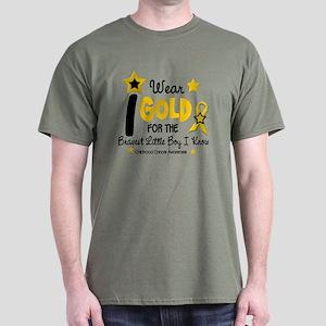 I Wear Gold 12 Brave Boy CHILD CANCER Dark T-Shirt