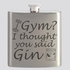 I Thought You Said Gin Flask
