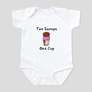 2 Scoops 1 Cup Infant Bodysuit