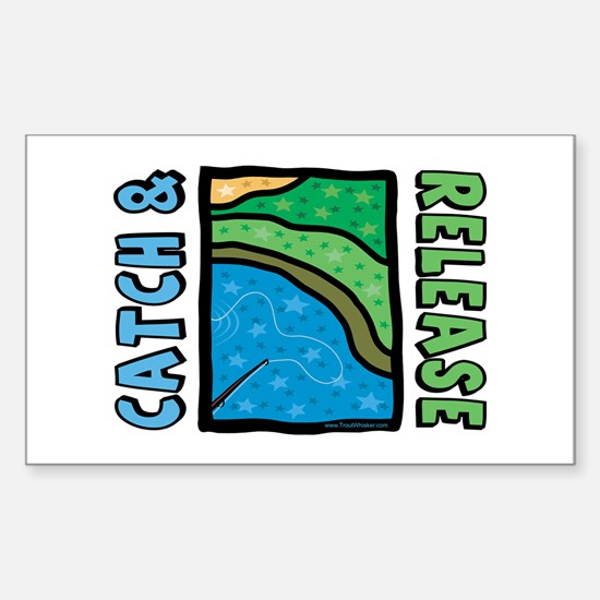 Catch and Release Rectangle Decal