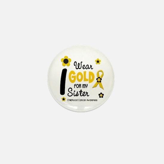 I Wear Gold 12 Sister CHILD CANCER Mini Button