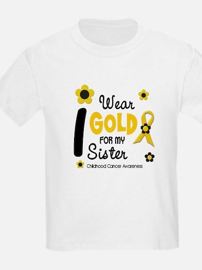 I Wear Gold 12 Sister CHILD CANCER T-Shirt