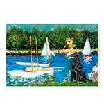 Sailboats / Flat Coated Retri Postcards (Package o