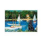 Sailboats / Flat Coated Retri Rectangle Magnet (10