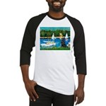 Sailboats / Flat Coated Retri Baseball Jersey