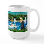 Sailboats / Flat Coated Retri Large Mug