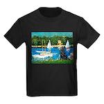 Sailboats / Flat Coated Retri Kids Dark T-Shirt