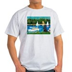 Sailboats / Flat Coated Retri Light T-Shirt