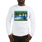 Sailboats / Flat Coated Retri Long Sleeve T-Shirt