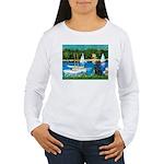 Sailboats / Flat Coated Retri Women's Long Sleeve