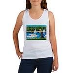 Sailboats / Flat Coated Retri Women's Tank Top