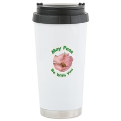 Peas Be With You Stainless Steel Travel Mug