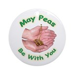 Peas Be With You Ornament (Round)