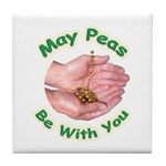 Peas Be With You Tile Coaster