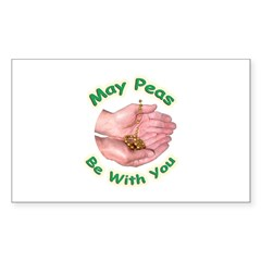 Peas Be With You Rectangle Decal