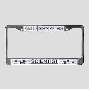 Scientist Hardcore License Plate Frame