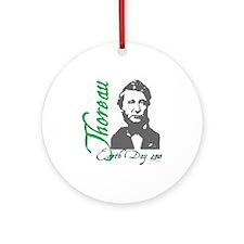 Thoreau Earth Day Ornament (Round)