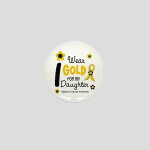 I Wear Gold 12 Daughter CHILD CANCER Mini Button