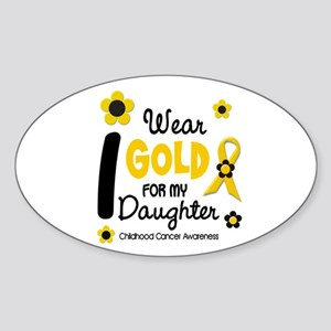 I Wear Gold 12 Daughter CHILD CANCER Sticker (Oval